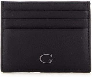 Luxury Fashion | Guess Mens SM2651LEA25NERO Black Card Holder | Fall Winter 19