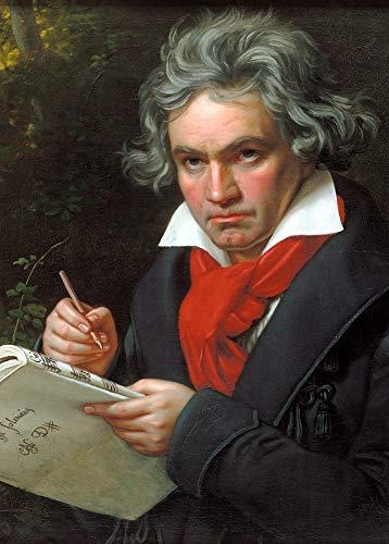 Vintage Opera y música clásica retrato de Ludwig van Beethoven cuando componen...