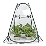 lulalula Mini Greenhouse Pop up Grow House, PVC Indoor Outdoor Backyard Greenhouse Cover, Small Portable Gardening Plant Cover Garden Flower Shelter - 27.5' x 27.5' x 31.5'