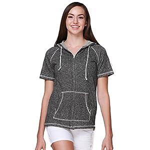 Women's  Short Sleeve Zip Hoodie