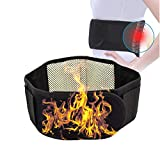 Filfeel Waist Trimmer, Black Tourmaline Self-Heating Magnetic Therapy Waist Support Belt Lumbar Support by