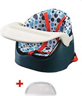 ZOUJUN Portable Booster Seat, Booster Feeding Seat Chair for Home Travel, Toddler Booster Chair Straps to Kitchen Dinner T...