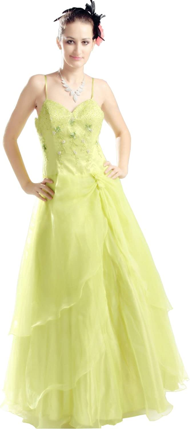 Beaded petite lime green evening dress, sexy teen solo