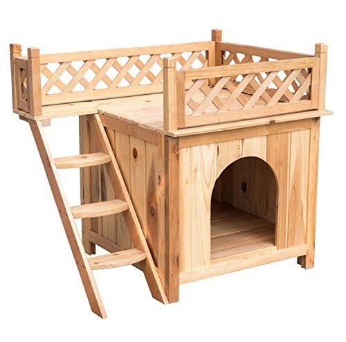 "Sundale Outdoor Deluxe Wood Cat House Indoor Dog House,Wooden Indoor Dog House Cat Condo for Small Pets,30""L X 20""W X 26""H"