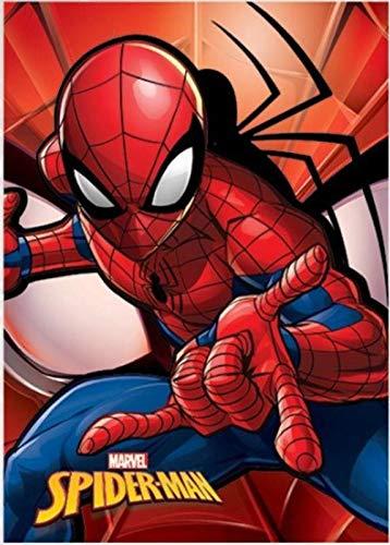 Spidermann Fleecedecke für Betten, Bettüberwürfe und Bettüberwürfe, Unisex, Erwachsene, Farbe: Gr.