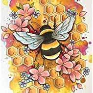 🐝 Full Round Drill DESIGN - The art painting is designed with full diamonds,which has various cutting faces,making the whole picture more glittering. 🐝CANVAS WALL DECOR - High clear oil painting canva is waterproof and even texture, the pattern itsel...