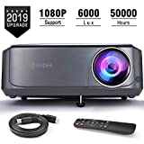 Video Projectors (Upgrade), GuDee Full HD Movie Projector for Home Theater, 6000 Lux Overhead Projector for...