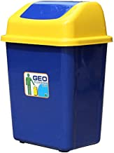 Outdoor Dustbins Bins Outdoor Plastic Dustbins with Shake Cover Trash Can Bins Square Recycling Bins Home Storage Rubbish ...