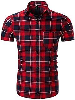 410c8f0f8 Amazon.es: Camisas A Cuadros - Rojo