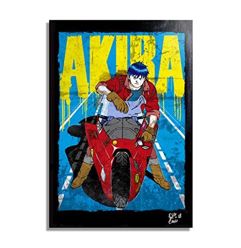 Kaneda de Akira (Katsuhiro Otomo) - Pintura Enmarcado Original, Imagen Pop-Art, Impresion Poster, Impresion en Lienzo, Cuadro, Comics, Cartel de la Pelicula, Anime, Manga