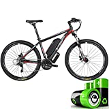 Mountain bike elettrica, bicicletta ibrida a batteria al litio 36V10AH, 26-29 pollici motoslitta bicicletta 24 velocità marcia linea meccanica tirare freno a disco tre modalità di lavoro,26*17in