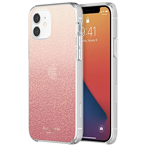 kate spade new york Protective Hardshell Case for iPhone 12 Mini - Glitter Ombre Sunset Pink/Multi