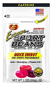Jelly Belly Extreme Sport Beans Caffeinated Jelly Beans Assorted Flavors 24 Pack 1-oz Each