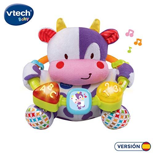 VTech- Vaca muusical Peluche Interactivo de Bebe con Suaves, Multicolor, única...