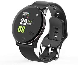 Smart Watch Fitness Armband Bloeddruk Hartslagmeter (Kleur: Zwart) -Blauw