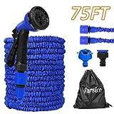 tubo estensibile da giardino 22.5m 75ft, blu tubo irrigazione flessibile, pistole da giardino, tubo da giardino espandibile con 8 funzione di spruzzo, per lavaggio auto e giardino di casa