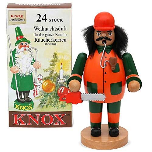 matches21 Rookmannetje Rookmannetje Kerstmis Advent hout 16-20 cm incl. wierookkaarsen - vele ontwerpen en beroepen bosbewerker zaag