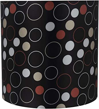 "Aspen Creative 31232 Transitional Drum (Cylinder) Shaped Construction Black, 8"" Wide (8"" x 8"" x 8"") Spider LAMP Shade"