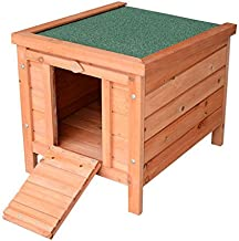PawHut Small Wooden Bunny Rabbit/Guinea Pig House
