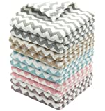 HFGBLG Microfiber Kitchen Dish Towels, Soft Absorbent Tidy Kitchen Dish Cloths, Set of 10, Bulk Dish Rags Cleaning Cloth, 12 Inch x 12Inch