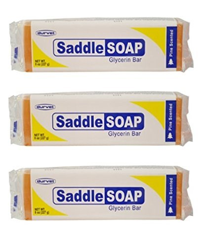 (Pack of 3) Saddle Soap Glycerin Bar for Leather