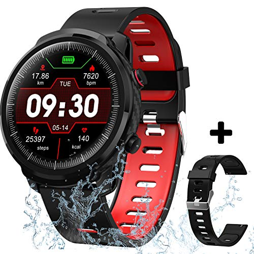 Smart Watch for Android iOS Phones, Waterproof Smart Watch, Smartwatch Compatible iPhone Android Phone for Men Women, Fitness Tracker Smartwatch with Blood Pressure Heart Rate and Sleep Monitor.