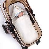 YLJYST Bolso de Dormir con Capucha de bebé recién Nacido, Cuna de la Cuna Envuelta Almohadilla para Dormir, niña de bebé 0-9 Meses Envuelto Envolvente con un Saco de Dormir Caliente Espesado
