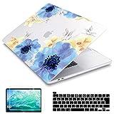 Redlai MacBook Pro 16 ケース A2141 モデル 2019 発売 薄型 耐衝撃性 全面保護 つや消しクリア プラスチック ハードケース マックブック プロ 16 付き Touch Bar & Retina Display + JIS日本語キーボードカバー (蝶の花)
