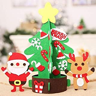 BETOES Christmas Tabletop Decorations, 47x47cm Christmas DIY Non Woven Lighting Tree Decorations Party Children - Candy Christmas Ornaments, Outdoor Snowman Decoration