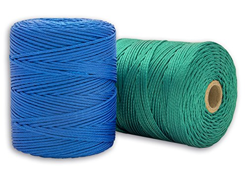 Cordamanía CMHP00PHAB - Pack de 2 unidades de hilo de replanteo (200 m) color verde y azul