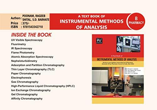 INSTRUMENTAL METHOD OF ANALYSIS (SEM VII) B.PHARM