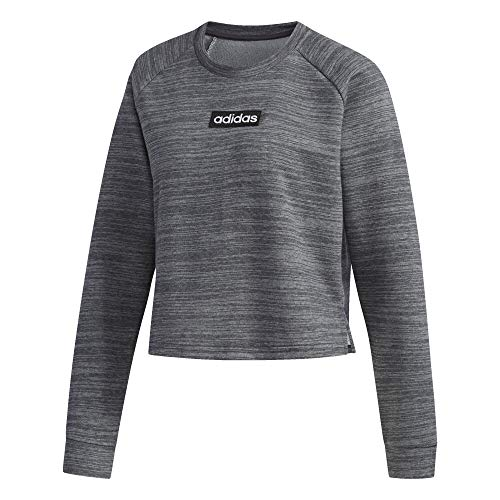 adidas Womens Essentials Sweat French Terry Capucha, Gris Oscuro y Negro, Small para Mujer
