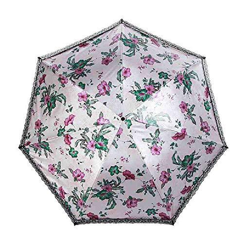 BJDKF paraplu Bloem Kant Paraplu Voor Vrouwen Winddicht Vouwen Parasol Meisje Mode Vrouwelijke Gift Regen Licht Zon Paraplu's Te Koop, 3