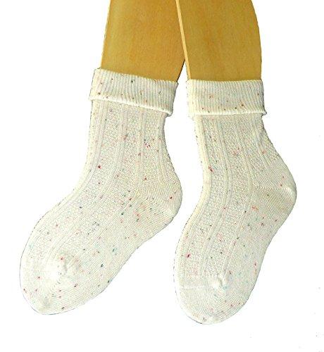 Shimasocks Kinder DamenTrachten Umschlag Socken 3-er Pack Gr. 19/22-39/42, Farben alle:natur tweed, Größe:35/38