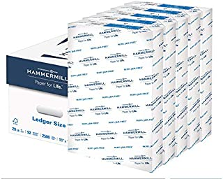 Hammermill 20lb Copy Paper, 11 x 17, 5 Ream Case, 2,500 Sheets, Made in USA, Sustainably Sourced From American Family Tree...