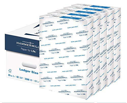 Hammermill 20lb Copy Paper, 11 x 17, 5 Ream Case, 2,500 Sheets, Made...