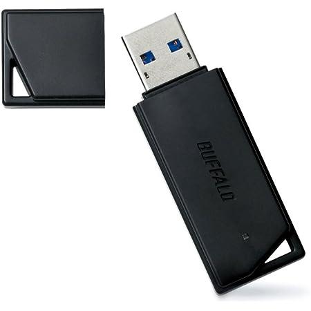 バッファロー【国内メーカー】 USBメモリ 32GB USB3.2(Gen1)/3.1(Gen 1)/3.0/2.0 充実サポート RUF3-K32GA-BK/N【Amazon.co.jp限定】