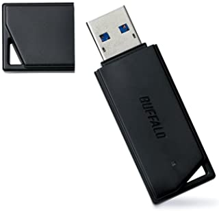 BUFFALO【国内メーカー】 USBメモリ 16GB USB3.2(Gen1)/3.1(Gen 1)/3.0/2.0 充実サポート RUF3-K16GA-BK/N【Amazon.co.jp限定】