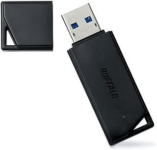 BUFFALO USB3.0対応 USBメモリ 32GB キャップ式 ブラック RUF3-K32GA-BK/N