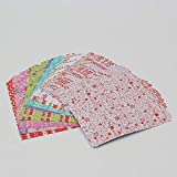 Craft Art Paper Kids Cute DIY Square Floral Flower Pattern Origami Paper Doblado Papel hecho a mano Craft Decor Models Toys, flor