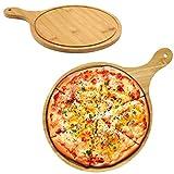 Barrageon Pizzas Plato Cortar Filete Bandeja Carne Asada Servir Placa Tabla Cortar Cuadrado Con Asa Multifunción Cocina Pastel Charola Uso Familiar Restaurante (10 Pulgadas)