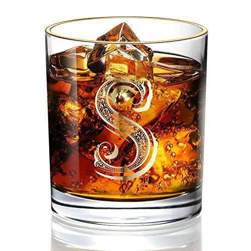 Vasos de whisky para hombre, papá/hijo, vintage, de oro de 24 quilates, hechos a mano, ideales para regalo y uso en el hogar, 10 oz Bourbon Scotch, decoraciones de fiesta S