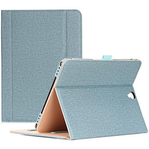 ProCase Funda Samsung Galaxy Tab S3 9.7, Carcasa Folio de Cuero PU con Tapa Magnética para SM-T820 T825 T827 -Trullo