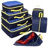 Set di 7 Organizer Viaggio, Cubi per Valigia,...