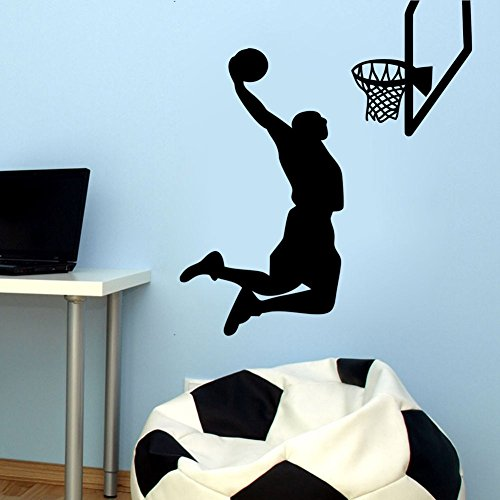 El vinilo puede desmontar la pared deportiva 2016 el jugador de baloncesto de la NBA LeBron James, la pared deportiva, la decoración de la casa.