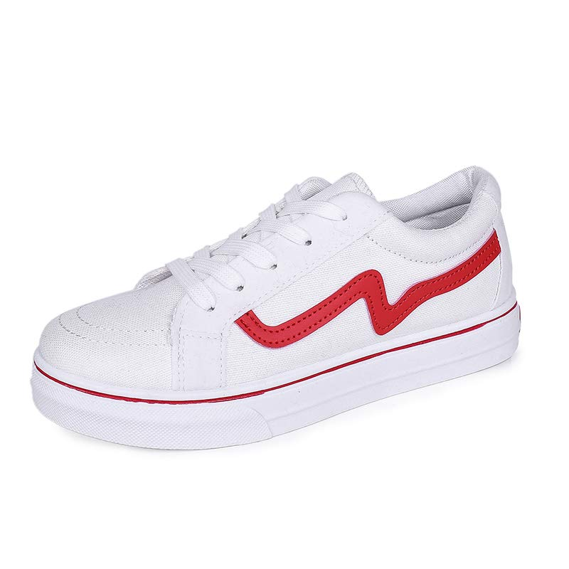 VOCANU TRE英国の古典的なファッションの靴フラットキャンバスシューズの女性の靴を助けるために低い