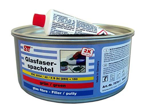 STC 2K Glasfaserspachtel grün Faserspachtel Auto inkl. Härter GFK Spachtelmasse (750 g)