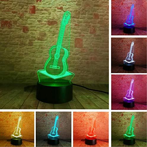 Wfmhra Dibujos Animados creativos 3D Música eléctrica Guit