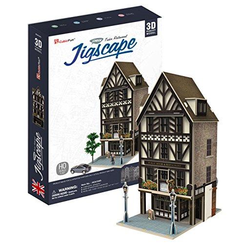 3D Puzzle - Jigscape Collection - Tudor Restaurant (Schwierigkeit: 5/6)