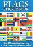 Alligator Books - Flaggen der Welt Aufkleber Buch und Weltkarte Poster